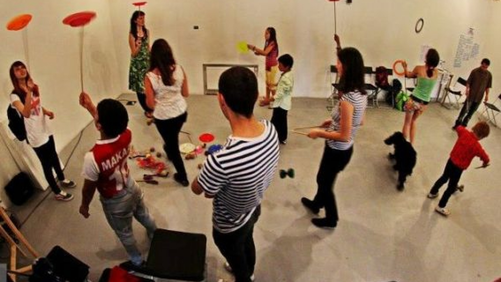 Workshop cu jonglerii