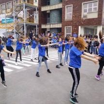 activitati ziua portilor deschise, pastel- tenaris- flash mob