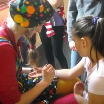 clowni cu picturi pe fata, picturi pe fata si pe corp evenimente si petreceri
