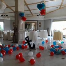 decor tematica marina, covor de baloane