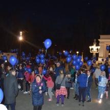albastru pentru autism, baloane cu heliu cluj