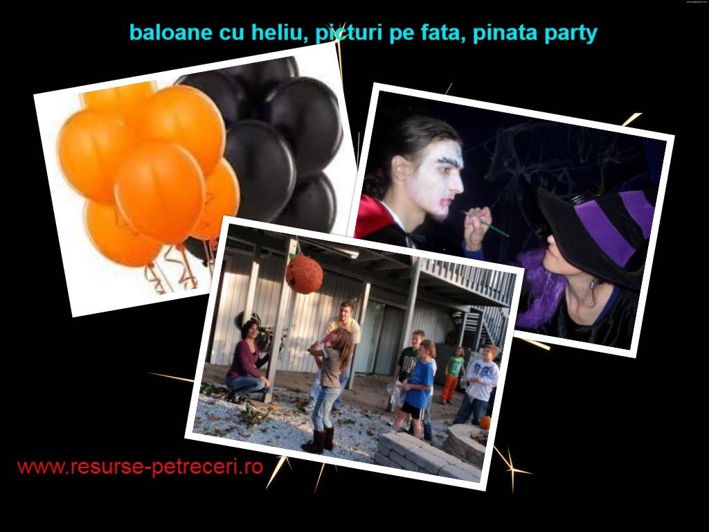 Pinata, Picturi pe fata, baloane cu heliu – Distractie de Halloween cu Resurse de Petreceri