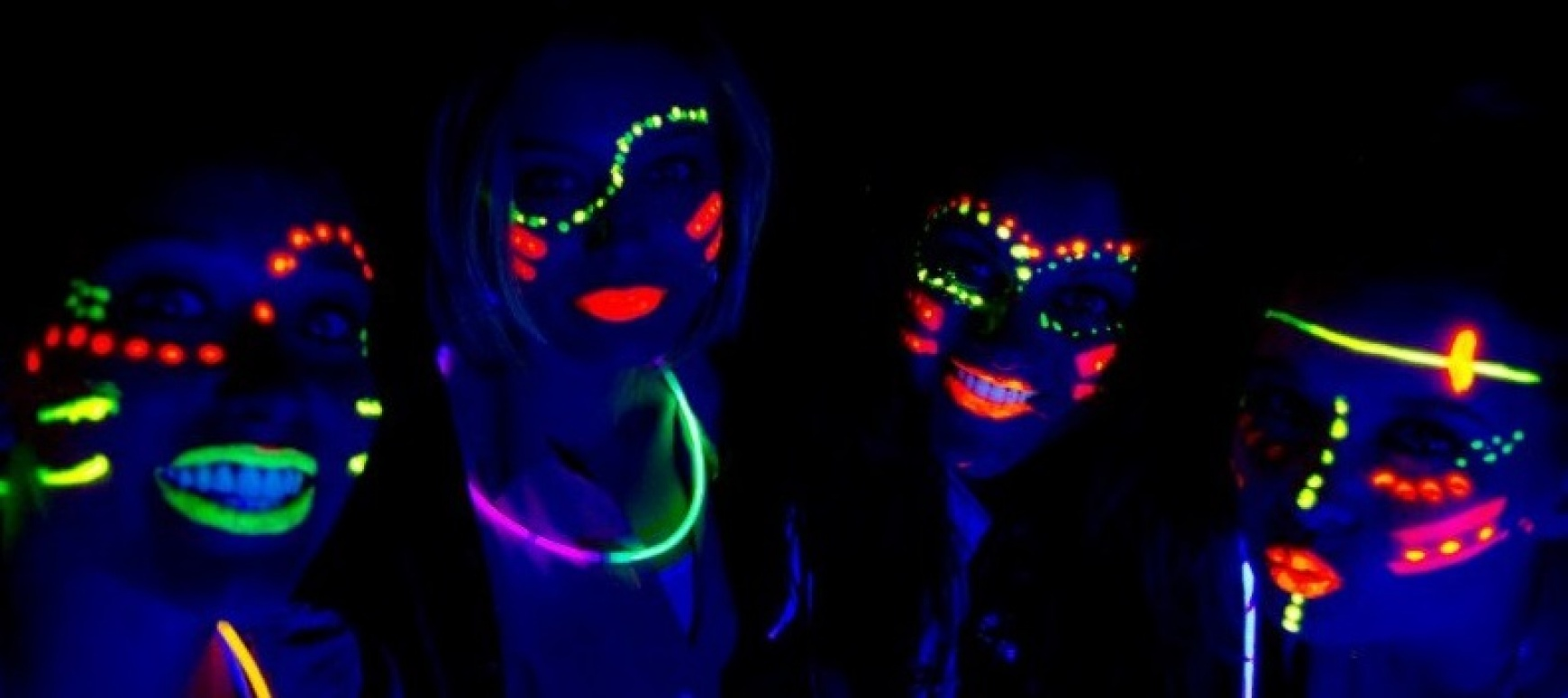 NEON Face and body painting